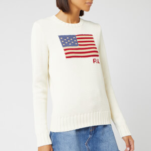 Polo Ralph Lauren Women's Long Sleeve Knit Jumper - Cream