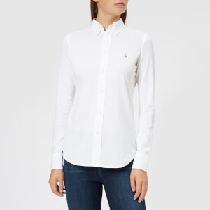 Polo Ralph Lauren Women's Heidi Skinny Long Sleeve Shirt - White