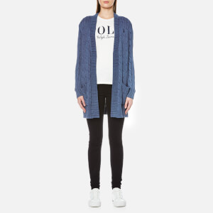 Polo Ralph Lauren Women's Open Cable Cardigan - Indigo