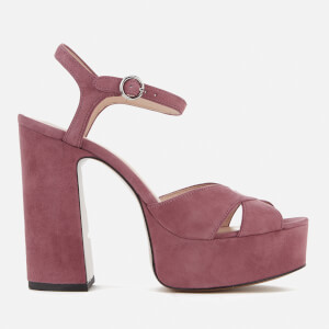 Marc Jacobs Women's Lust Leather Platform Heeled Sandals - Dusty Pink