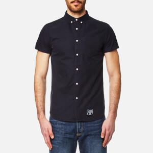 Superdry Men's Ultimate Oxford Short Sleeve Shirt - Harper Navy