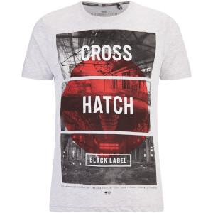 Crosshatch Men's Hotspot Graphic T-Shirt - Light Grey Marl