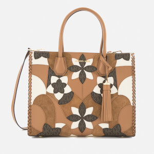 MICHAEL MICHAEL KORS Women's Mercer Patchwork Large Conversational Tote Bag - Acorn
