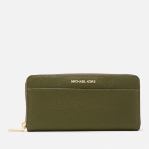 MICHAEL MICHAEL KORS Women's Mercer Pocket Zip Around Continental Purse - Olive