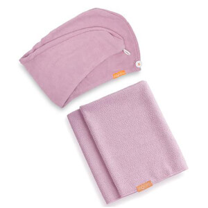 Aquis Lisse Luxe Hair Turban and Hair Towel - Desert Rose Bundle