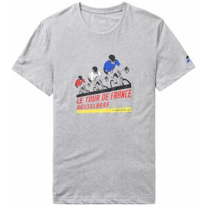 Le Coq Sportif Tour de France N1 Kraftwerk T-Shirt - Grey