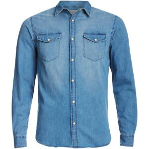 Jack & Jones Men's Originals Rone Denim Shirt - Light Blue Denim