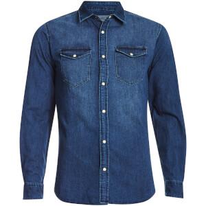 Jack & Jones Originals Men's Rone Denim Shirt - Dark Blue Denim