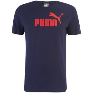 T-Shirt Homme Essential Logo Puma -Bleu Marine