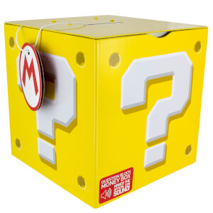 Nintendo Super Mario Question Block Money Box - Yellow