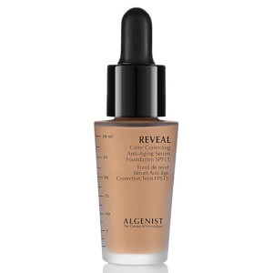 Base de maquillaje con sérum antienvejecimiento corrector del color con FPS15 Reveal de ALGENIST 30 ml (varios tonos)