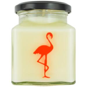 White Lilac Rhubarb Flamingo Candle