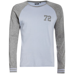 Brave Soul Men's Granite Long Sleeve Top - Blue/Grey