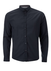 Brave Soul Men's Tudor Long Sleeve Shirt - Navy