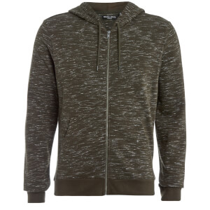 Brave Soul Men's Territory Zip Through Hoody - Khaki