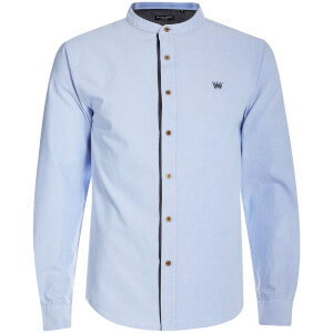 Brave Soul Men's Casey Long Sleeve Shirt - Blue