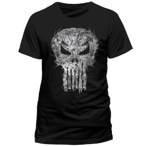 Marvel Comics The Punisher Shatter Skull T-Shirt - Black