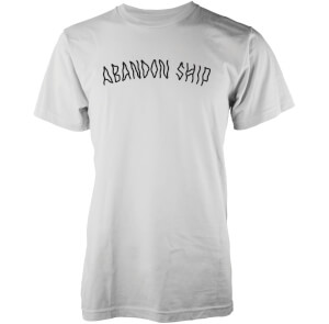 Abandon Ship Scribble Logo Heren T-shirt - Wit