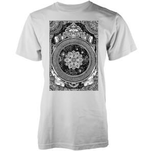 T-Shirt Homme Jen X Mandala Abandon Ship -Blanc