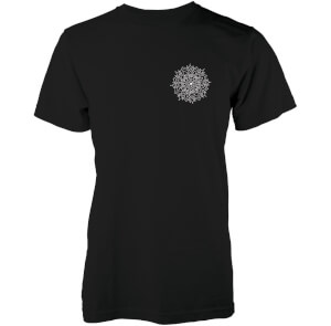 Abandon Ship Men's Snow Mandala T-Shirt - Black