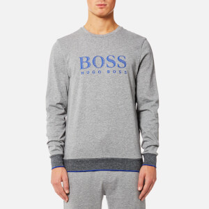 BOSS Hugo Boss Men's Authentic Round Neck Sweatshirt - Medium Grey