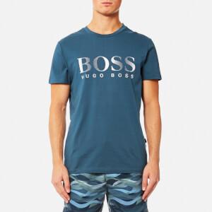 BOSS Hugo Boss Men's Large Logo T-Shirt - Navy