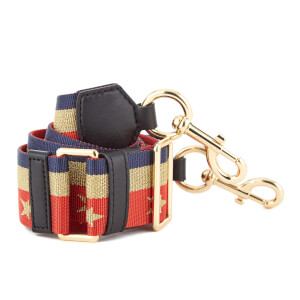 Marc Jacobs Women's Stars and Stripes Bag Strap - Lave Red Multi