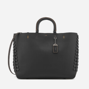 Coach 1941 Women's Linked Leather Detail Rogue Tote Bag - Black