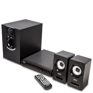 Akai 50W Bluetooth DVD Home Theatre System - Black