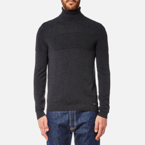 HUGO Men's Sisealo Roll Neck Jumper - Charcoal