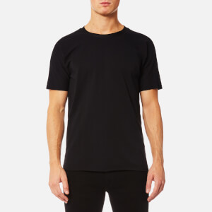 HUGO Men's Deilly Raw Edge Box Fit T-Shirt - Black