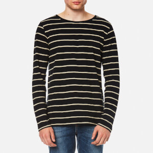 Nudie Jeans Men's Orvar Striped Long Sleeve T-Shirt - Stripe