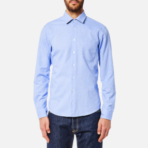 BOSS Orange Men's Epop Sueded Oxford Shirt - Open Blue