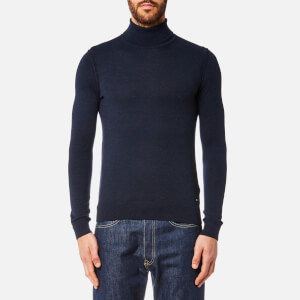 BOSS Orange Men's Arkoll Roll Neck Jumper - Dark Blue