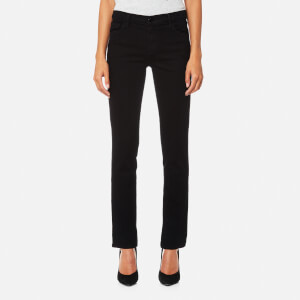 J Brand Women's Maude Mid Rise Cigarette Jeans - Shadow Black