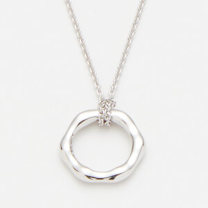 Missoma Women's Silver Mini Molten Necklace On Plain Chain - Silver