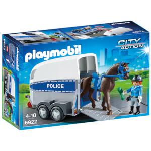 Policière avec cheval et remorque (6922) -Playmobil City Action