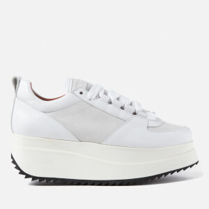 Ganni Women's Naomi Leather Trainers - Bright White