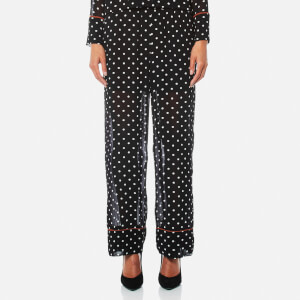 Ganni Women's Monette Georgette Trousers - Black