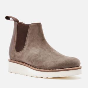 Grenson Women's Lydia Suede Chelsea Boots - Vigogna/Chocolate Metallic
