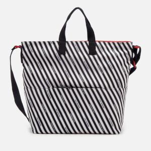 Lulu Guinness Women's Stripe Canvas Romy Tote Bag - Chalk/Red/Black