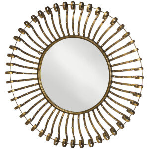 Premier Housewares Spoke Framed Wall Mirror