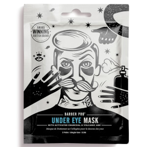 BARBER PRO Under Eye Mask with Activated Charcoal and Volcanic Ash (3 Applications)