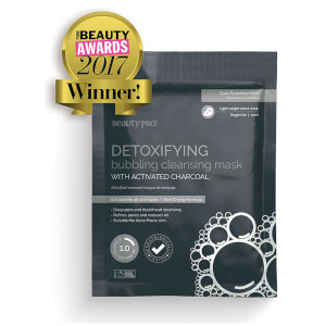 BeautyPro Detoxifying Foaming Cleansing Sheet Mask with Activated Charcoal: Image 1