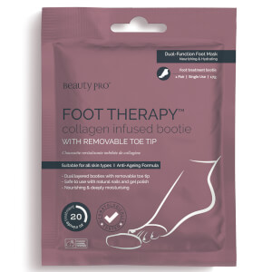BeautyPro Foot Therapy Collagen Infused Bootie with Removable Toe Tip (ett par)
