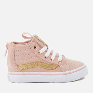 Vans Toddlers' Sk8-Hi Zip Mte Hi-Top Trainers - Sepia Rose/Metallic