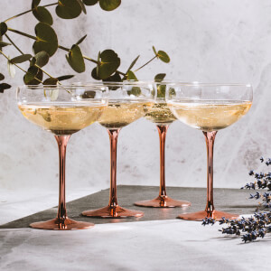 Soiree Vintage Champagne Saucer Set - Copper