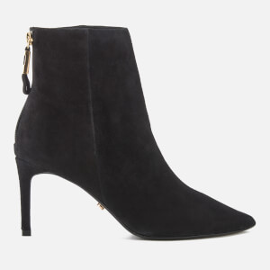Dune Women's Oralia Suede Heeled Ankle Boots - Black