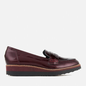 Dune Women's Graphic Patent Leather Loafers - Burgundy
