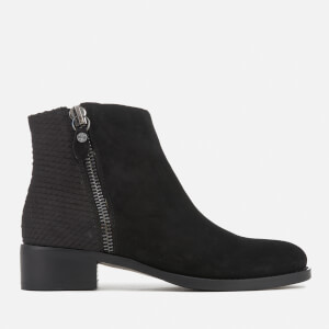 Dune Women's Prise Suede Ankle Boots - Black